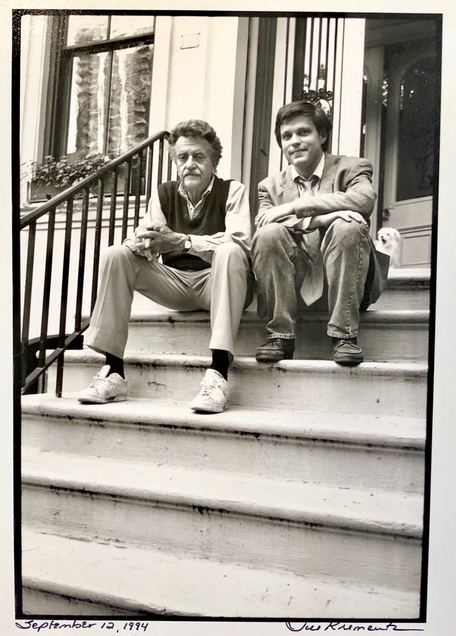 Douglas Brinkley and Kurt Vonnegut 1994