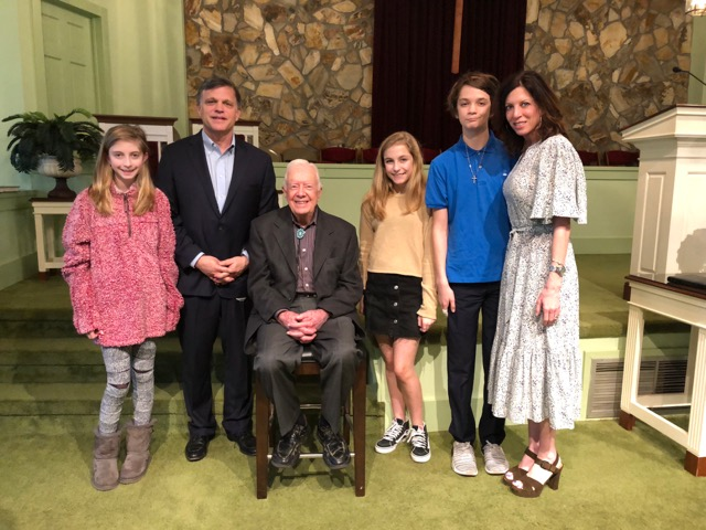 Douglas Brinkley and family with President Carter